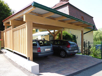 carport aus holz planen bauen montagebaus tze vom zimmermeister in graz und graz umgebung. Black Bedroom Furniture Sets. Home Design Ideas