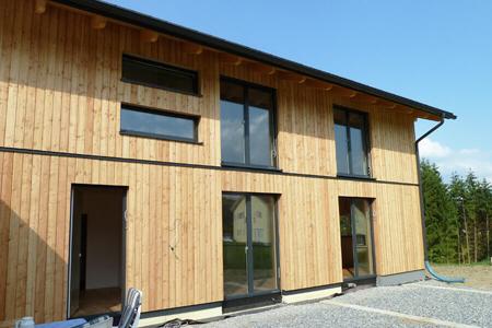 Holzfassaden Larche Fichte Natur Lasiert Verputzt Vom Holzbaumeister In Graz