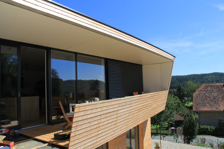 Holzfassaden Larche Fichte Natur Lasiert Verputzt Vom