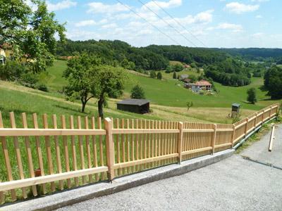 Zaun balkongel nder sichtschutz einfriedung umrandung - Holzzaun modern ...