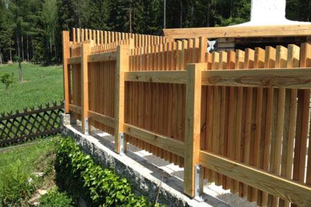 Zaun Balkongelander Sichtschutz Einfriedung Umrandung Aus Holz