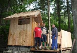Holzhütte am Wanderweg St. Radegund