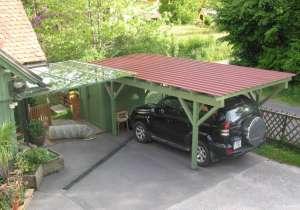 Carport Blechdach Glasdach