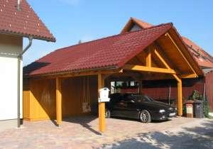 Carport Satteldach Ziegel-Deckung