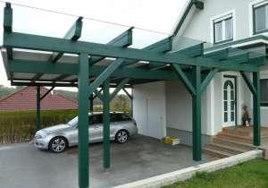 Carport Eingangs-Überdachung Glasdach