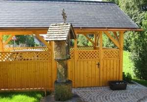 Carport mit Gartentür