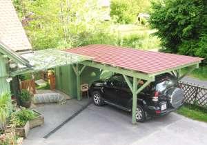 Carport mit Glas-Überdachung