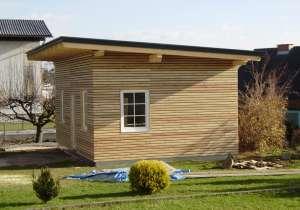 Gartenhaus mit Pultdach gesamt