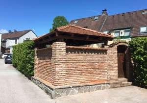Gartenpavillon, Mauerwerk