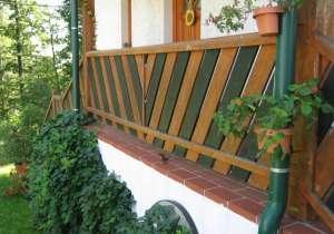 Balkon-Geländer Holz, 2-färbig
