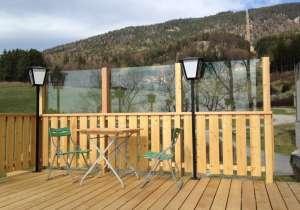 Balkon-Geländer Witterungs-Schutz aus Glas