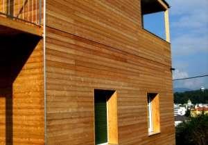 Holzfassade Lärche natur - waagrechte Montage