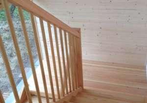 Stiegenhaus Holz-Bauweise