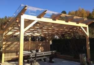 Sitzplatz-Überdachung Glasdach