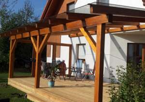Terrassen-Überdachung Glaselemente