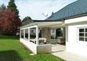 Terrassen-Überdachung geschlossen mit Blechdach