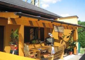 Terrassen-Überdachung Holz lasiert
