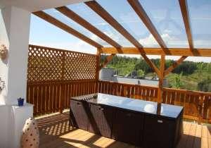 Terrasse Glasdach Innenansicht