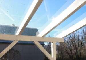 Überdachung Glas-Elemente weiß
