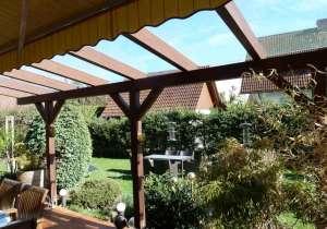 Terrassen-Überdachung mit Unterglas-Markise