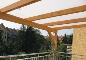 Balkon Überdachung  aus Glas