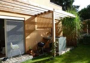 Vordach mit Teil-Verglasung