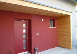 Eingangs-Überdachung Holz-Verkleidung