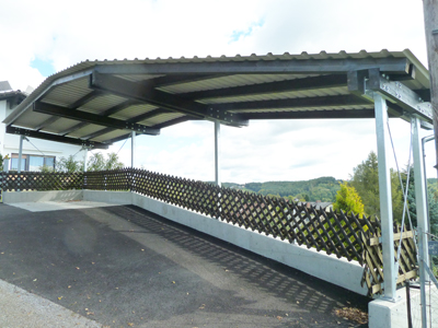 Fliegendes Carport