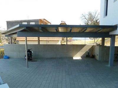 Moderner Carport Anbau An Wohnhaus Neubau