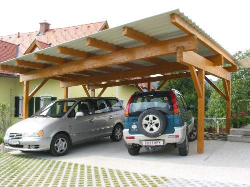 Carport mit Trapezblech