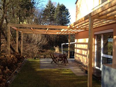 Pergola Aus Holz Dekoration Und Sichtschutz Fur Garten Und