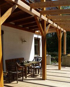 pergola anbau zu bestehendem balkon. Black Bedroom Furniture Sets. Home Design Ideas
