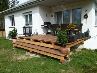 holz terrasse, terrassen aus holz - für ihre erholung im garten, Design ideen