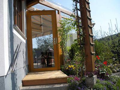 sitzplatz berdachung mit 2 seitigem windschutz. Black Bedroom Furniture Sets. Home Design Ideas