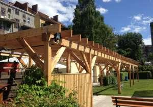 Pergola Aus Holz Dekoration Und Sichtschutz Fur Garten Und Terrasse
